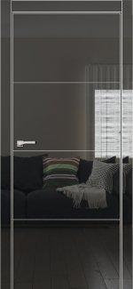 Двери Galaxy Metalbox глянец Black NEW HG 6002 глухое