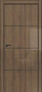 Двери Galaxy Metalbox глянец Milano walnut WD 627 глухое