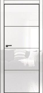 Двери Galaxy Metalbox глянец White HG 601 + AL Black глухое