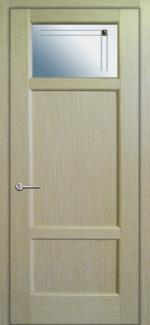 Межкомнатные двери Двері Генрі НСД білений дуб зі склом 1-3