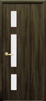 Двери Герда Новый Стиль кедр со стеклом Сатин