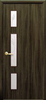 Двери Герда Новый Стиль кедр со стеклом Р3