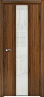 Межкомнатные двери Двері Глазго Медіум НСД молочний шоколад зі склом