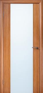 Межкомнатные двери Двері Глазго НСД каштан зі склом