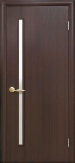 Межкомнатные двери Глория Новый Стиль венге brown стекло Сатин