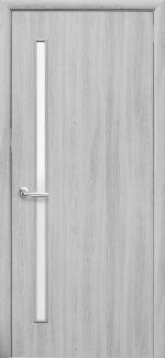 Двери Глория Новый Стиль ясень патина со стеклом Сатин