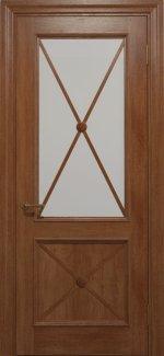 Двери Статус Дорс Golden Cross C-12.S01 карамельный стекло Сатин