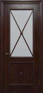 Двери Статус Дорс Golden Cross C-12.S01 мокко стекло Сатин