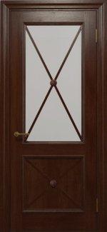 Двери Статус Дорс Golden Cross C-12.S01 шоколадный стекло Сатин