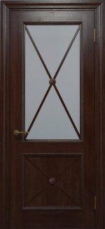 Двери Статус Дорс Golden Cross C-12.S02 мокко стекло бронза