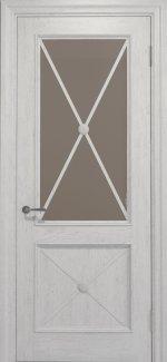 Двері Статус Дорс Golden Cross C-12.S02 білосніжний скло бронза