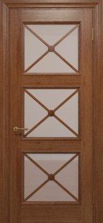 Двери Статус Дорс Golden Cross C-22.S01 карамельный стекло Сатин