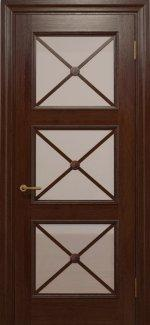 Двери Статус Дорс Golden Cross C-22.S01 шоколадный стекло Сатин