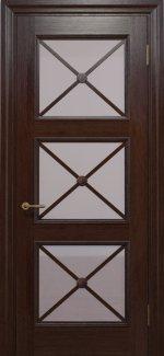 Двери Статус Дорс Golden Cross C-22.S02 мокко стекло бронза