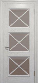 Двери Статус Дорс Golden Cross C-22.S02 белоснежный стекло бронза