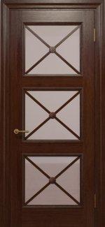 Двери Статус Дорс Golden Cross C-22.S02 шоколадный стекло бронза
