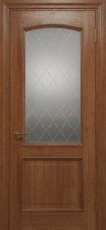 Межкомнатные двери Двері Golden Elegante Адажіо Статус Дорс темний горіх скло-1 ромбы белые