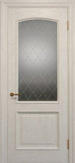 Межкомнатные двери Двері Golden Elegante Адажіо Статус Дорс слонова кістка скло-1 ромбы белые