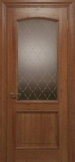 Межкомнатные двери Двері Golden Elegante Адажіо Статус Дорс темний горіх скло-2 ромбы бронза