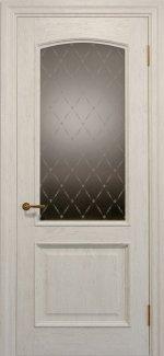 Межкомнатные двери Двері Golden Elegante Адажіо Статус Дорс слонова кістка скло-2 ромбы бронза