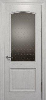 Межкомнатные двери Двері Golden Elegante Адажіо Статус Дорс білі скло-2 ромбы бронза