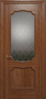 Межкомнатные двери Двері Golden Elegante Алегро Статус Дорс темний горіх скло-1 ромбы белые