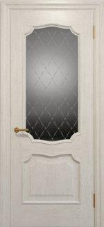 Межкомнатные двери Двері Golden Elegante Алегро Статус Дорс слонова кістка скло-1 ромбы белые