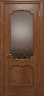 Межкомнатные двери Двері Golden Elegante Алегро Статус Дорс темний горіх скло-2 ромбы бронза