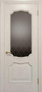 Межкомнатные двери Двері Golden Elegante Алегро Статус Дорс слонова кістка скло-2 ромбы бронза