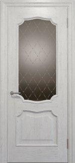 Межкомнатные двери Двері Golden Elegante Алегро Статус Дорс білі скло-2 ромбы бронза
