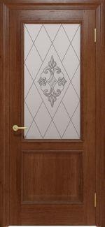Межкомнатные двери Двері Golden Interia Гранд Статус Дорс темний горіх скло-6