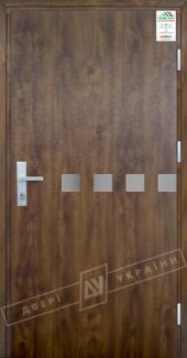 Входные двери Двері України Grand House 73 мм Модель №10 темний горіх