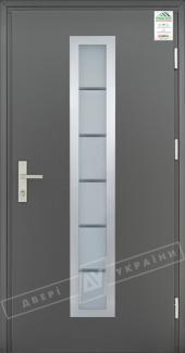Входные двери Grand House 73 мм Модель №1 України графіт металік Антивандальная пленка Темный орех