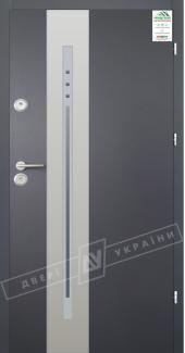 Входные двери Двері України Grand House 56 мм Модель №4 графіт металік