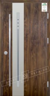 Входные двери Двері України Grand House 73 мм Модель №4 ручка Fashion темний горіх