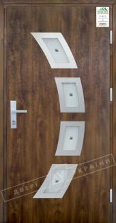 Входные двери Двері України Grand House 73 мм Модель №5 темний горіх