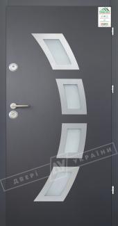 Входные двери Двері України Grand House 56 мм Модель №5 графіт металік