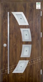 Входные двери Двері України Grand House 73 мм Модель №5 ручка Fashion темний горіх