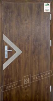 Входные двери Двері України Grand House 73 мм Модель №6 темний горіх