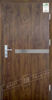 Входные двери Двері України Grand House 73 мм Модель №8 темний горіх