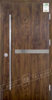 Входные двери Grand House 73 мм Модель №8 Fashion України темний горіх Антивандальная пленка Темный орех