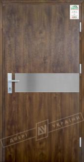 Входные двери Двері України Grand House 73 мм Модель №9 темний горіх