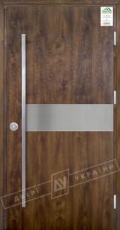 Входные двери Grand House 73 мм Модель №9 Fashion України темний горіх Антивандальная пленка Темный орех