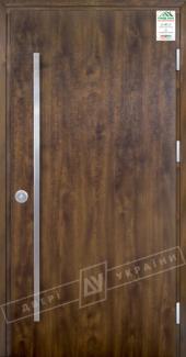 Входные двери Двері України Grand House 73 мм Модель Flash Fashion темний горіх