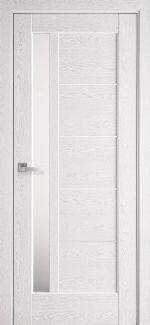 Межкомнатные двери Грета Новый Стиль патина серая делюкс стекло Сатин