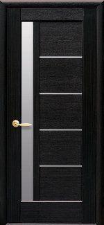 Двери Грета Новый Стиль венге Делюкс со стеклом Сатин
