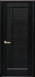 Межкомнатные двери Грета Новый Стиль венге делюкс стекло черное