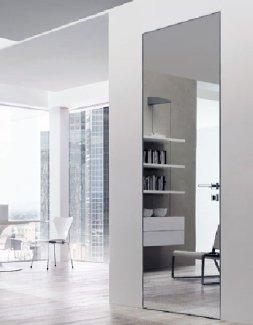 Двери без наличников с зеркалом Бронза / Серебро