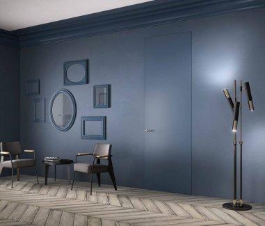 Межкомнатные двери скрытого монтажа серые Invisible с покраской эмалью ral 7001