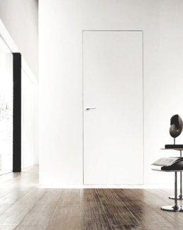 Двери скрытые белые с покраской эмалью RAL 9016